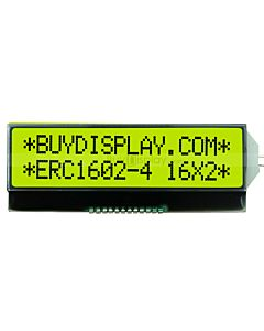 I2C COG 16X2 Character LCD Display Module,ST7032,Serial,Black on YG