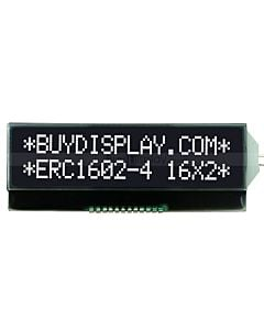 I2C Serial 3.3V Black Character 16x2 COG LCD Display with Pin Connection