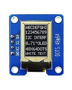 I2C White 0.71 inch OLED Display Module 64x48 Arduino,Raspberry Pi