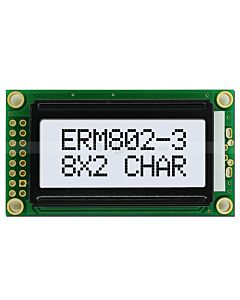 LCD 8x2 Datasheet Character Module,Wide View Angle,Black on White