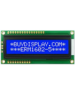 LCD Arduino 16x2 display SPI Character Module,White on Blue