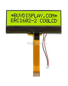LCD Module 16x2 COG Display Character Module,NT7603,Black on YG