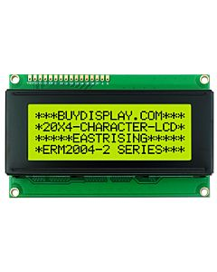 LCD Module 20x4 Display Datasheet Character,HD44780,Black on YG