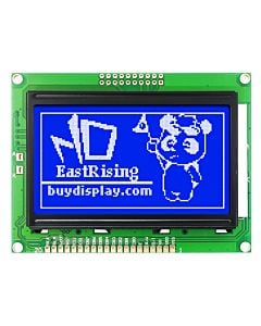 Low-Cost 12864 128x64 Graphic LCD Display Module Blue White Color