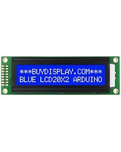 Connect Blue 20x2 Character Display to I2C Adapter Board with Dupont Wire