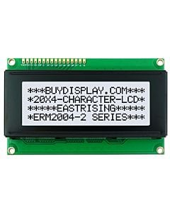 Module 20x4 LCD Display PIN Configuration,Commands,Black on White