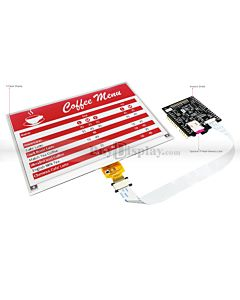 Red 7.5 inch e-Ink Display Arduino Shield,Library 640x384 for ESL