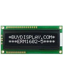 Serial 16x2 Character LCD Module 3.3V/5V Power White Text on Black
