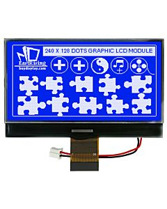 Serial Blue 240x128 Graphic LCD Module with UC1608 Controller