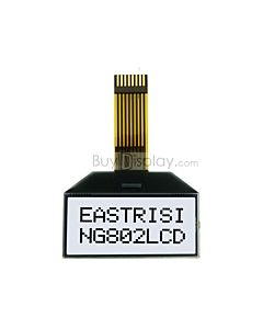 Serial COG 8x2 LCD Module I2C Character Display ST7032,Black on White