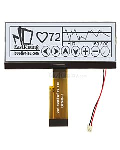 Serial I2C 240x64 COG Monochrome LCD Graphic Module,Black on White