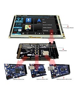 Serial SPI Arduino 7 inch TFT LCD Touch Shield RA8875 for Mega Due Uno