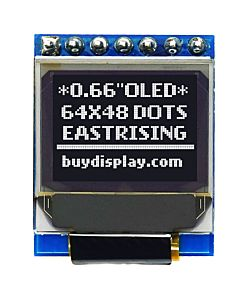 Serial SPI I2C White 0.66 inch Arduino,Raspberry Pi OLED Display 64x48