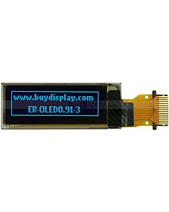 Small Blue 0.91 inch 128x32 OLED Display with FPC Connection,SSD1306