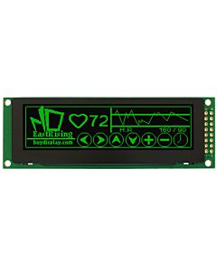 SPI 256x64 OLED Manufacturer Display Panel Supplier,Green on Black