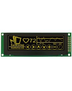 SPI 3.2 inch OLED Module Display 256x64 Panel,Screen,Yellow on Black