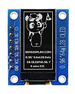 SPI I2C White 0.96 inch 64x128 OLED Display Module Arduino,Raspberry Pi