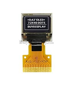 White 0.42 inch OLED Display Panel 72x40 IIC I2C Serial SPI SSD1306
