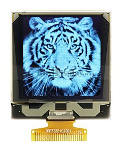 Grayscale 128x128 White OLED Display Panel  I2C Serial SPI 1.5 inch