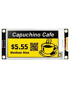 Yellow 2.6 inch e-Ink Display Module