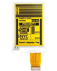 Yellow 2.7 inch e-Ink Display Panel 176x264