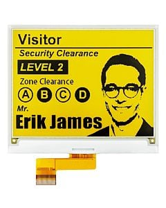 Yellow 4.2 inch e-Paper Display Panel 400x300