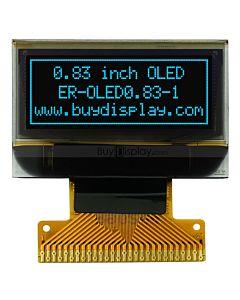 蓝色0.83寸OLED显示屏/显示模块/96x39点阵/串口