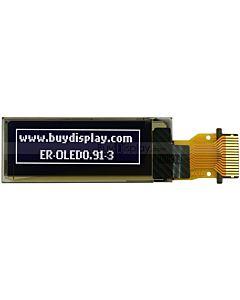 白色0.91寸OLED显示屏/显示模块/12832/128x32点阵/串口