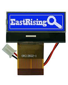 超薄1.2寸LCD12832液晶屏/128x32图形点阵COG液晶模块/蓝底白字