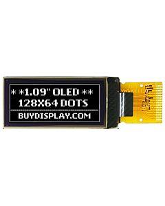 1.09英寸白色OLED显示屏/64x128分辨率/带控制芯片CH1115/SPI接口