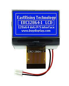 超薄1.4寸LCD12864液晶屏/128x64图形点阵COG液晶模块/蓝底白字