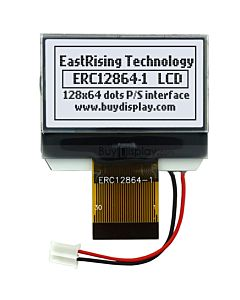 1.4 inch Graphic 128x64 LCD Module Serial SPI ST7565 Black on White