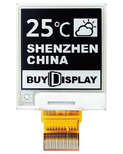 1.54英寸电子墨水屏152x152分辨率白底黑字UC8151C