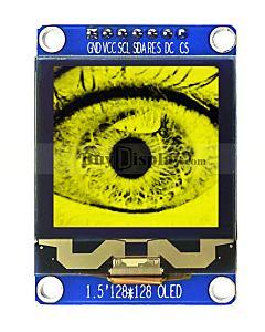 黄色1.5寸OLED显示屏/显示模块/128x128点阵/IIC/SPI接口/SSD1327