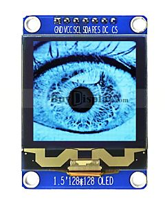 128x128 Grayscale OLED SPI I2C White 1.5