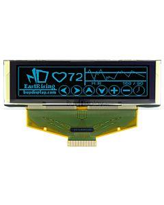 蓝色2.8寸OLED显示屏/显示模块/25664/256x64点阵/并串口