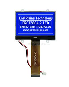 Blue 2.6 inch 128x64 COG LCD Module Display w/Touch Panel,Serial SPI