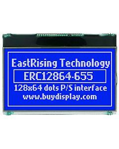 超薄2.8寸LCD12864液晶屏/128x64图形点阵COG液晶模块/蓝底白字