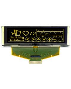 黄色2.8寸OLED显示屏/显示模块/25664/256x64点阵/并串口