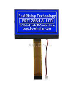 超薄2.9寸LCD12864液晶屏/128x64图形点阵COG液晶模块/蓝底白字