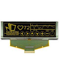 黄色3.2寸OLED显示屏/显示模块/25664/256x64点阵/并串口