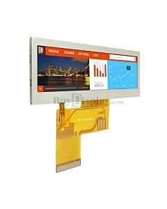 3.9 inch Color Bar Type TFT LCD Display 480x128 Pixels for IoT