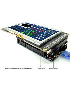 4.3寸TFT LCD彩色液晶显示模块/带SSD1963控制板/Arduino开发板/ Mega/Due