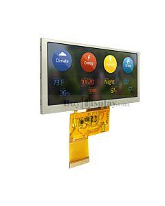 4.6寸TFT LCD彩色液晶模块/800x320点阵/物联网显示屏/可配触摸屏