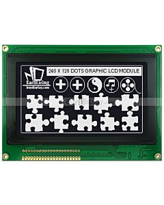 4.7寸LCD240128工控液晶屏/LCM240x128图形点阵液晶模块/黑底白字