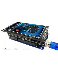 4(3.97)寸TFT LCD彩色液晶显示模块/带转接板/Arduino开发板/ Mega/Due/Uno