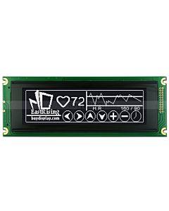 5.2寸LCD24064工控液晶屏/LCM240x64图形点阵液晶模块/黑底白字