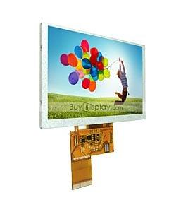 5寸TFT LCD彩色液晶显示屏/800x480点阵彩屏模块/可配触摸屏