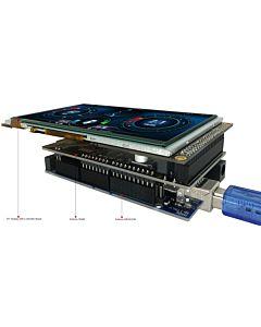 5寸TFT彩色液晶模块/配电容式触摸屏/带RA8875控制板/Arduino开发板/Mega/Due/Uno