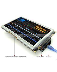 8寸TFT LCD彩色液晶显示模块/带SSD1963控制板/Arduino开发板/ Mega/Due